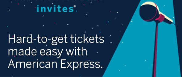 Access to Amex Invites & Front of the Line with the Scotiabank Gold American Express Card