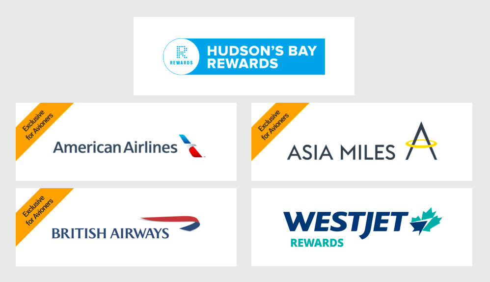 Transfer RBC Rewards Points to Hudson's Bay Rewards, American Airlines, Asia Miles, British Airways Avios