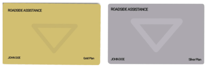canadian tire roadside assistance gold plan and silver plan cards