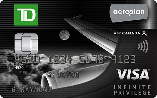TD Aeroplan Visa Infinite Privilege Card