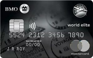 BMO Air Miles World Elite Mastercard, the Best Travel Credit Card Canada with AIR Miles