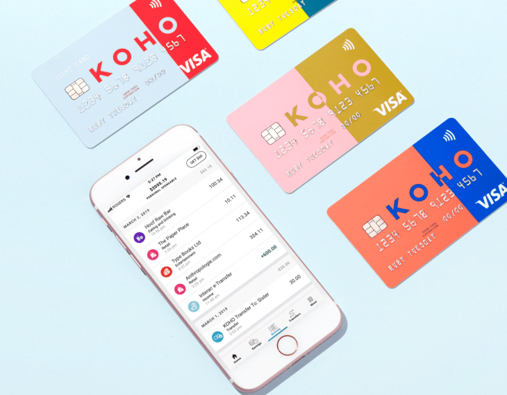 Koho Visa cards and App