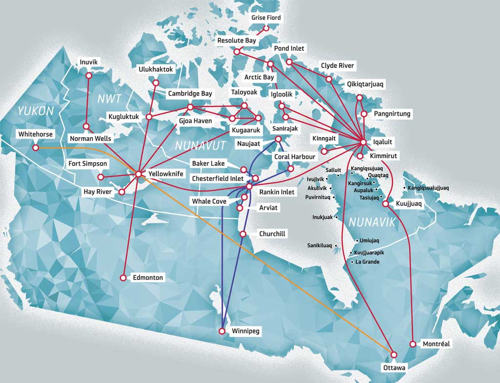 Canadian-North-Review-Route-Map-Flight-Canada-Airline-First-Air-Aeroplan
