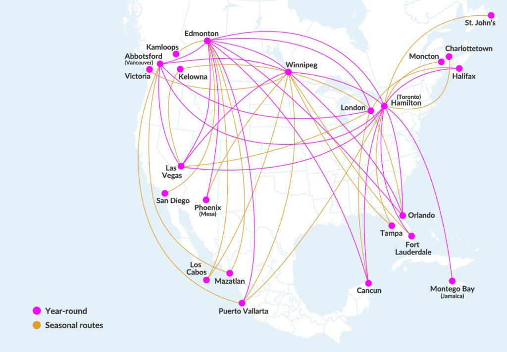 Swoop Airlines Review Route Map Destinations USA Canada Mexico Jamaica