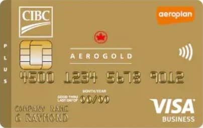 CIBC Aerogold Visa Card for Business -add up to 9 additional cards to consolidate business expenses