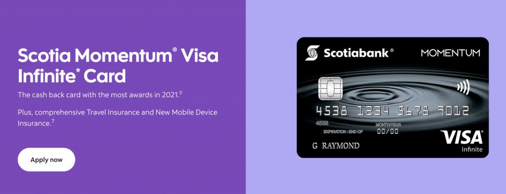 Scotia Momentum Visa Infinite Card